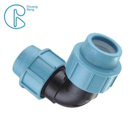 Plastic PN16 Polypropylene Elbow Fitting Water Pipe Tube Joint Chemical Resistant