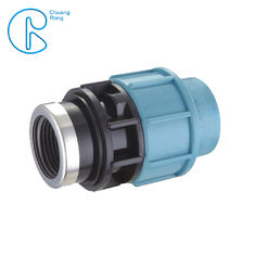 Flexible Tubing PP Compression Fitting Female Adaptor Connector Easy To Install