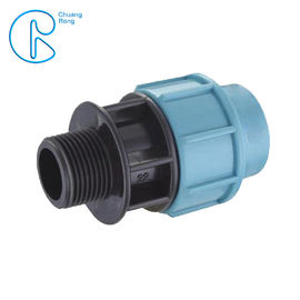 Quick Connect Pipe PP Compression Fitting Male Thread Adaptor High Hardness