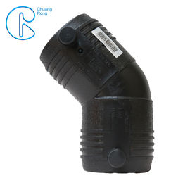 Custom HDPE Electrofusion Fittings , 110mm Electrofusion HDPE 45 Degree Elbow