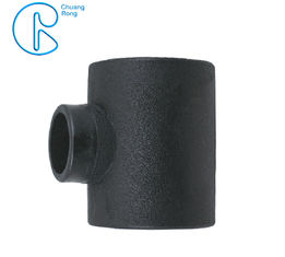 Black Color HDPE Socket Fusion Fittings Reducing Tee PE100 PN16 SDR11