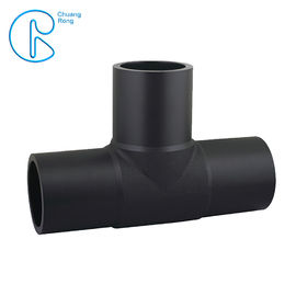 Dn 50-630mm HDPE Equal Tee Buttweld With 100% Virgin Material PE100