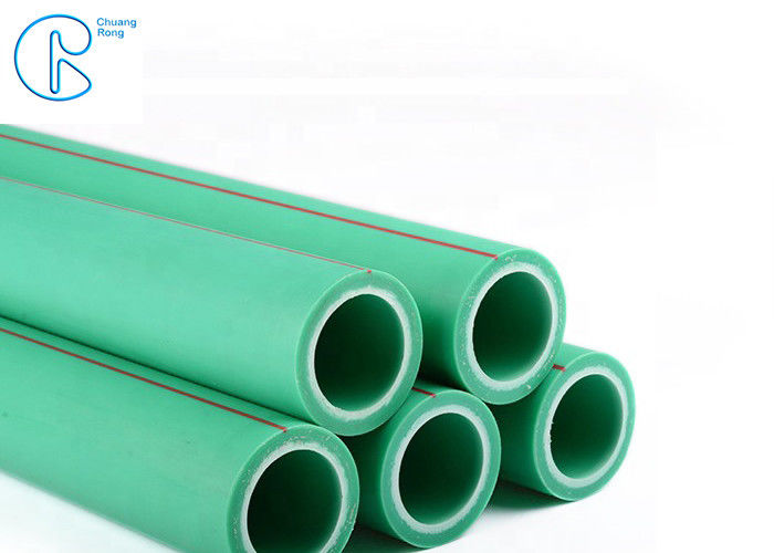 Pn25 High Pressure PPR Green Pipe 20 - 160mm For Indoor Hot Water Supply