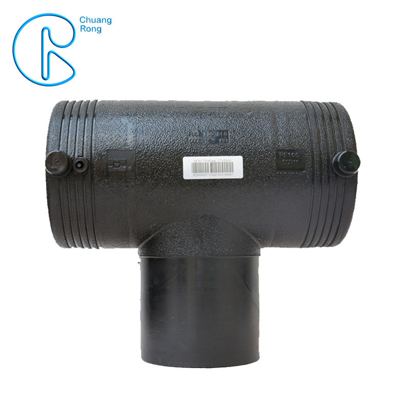 Electrofusion HDPE Equal Tee 110mm PN16 SDR11 PE100 For Residential Water Supply