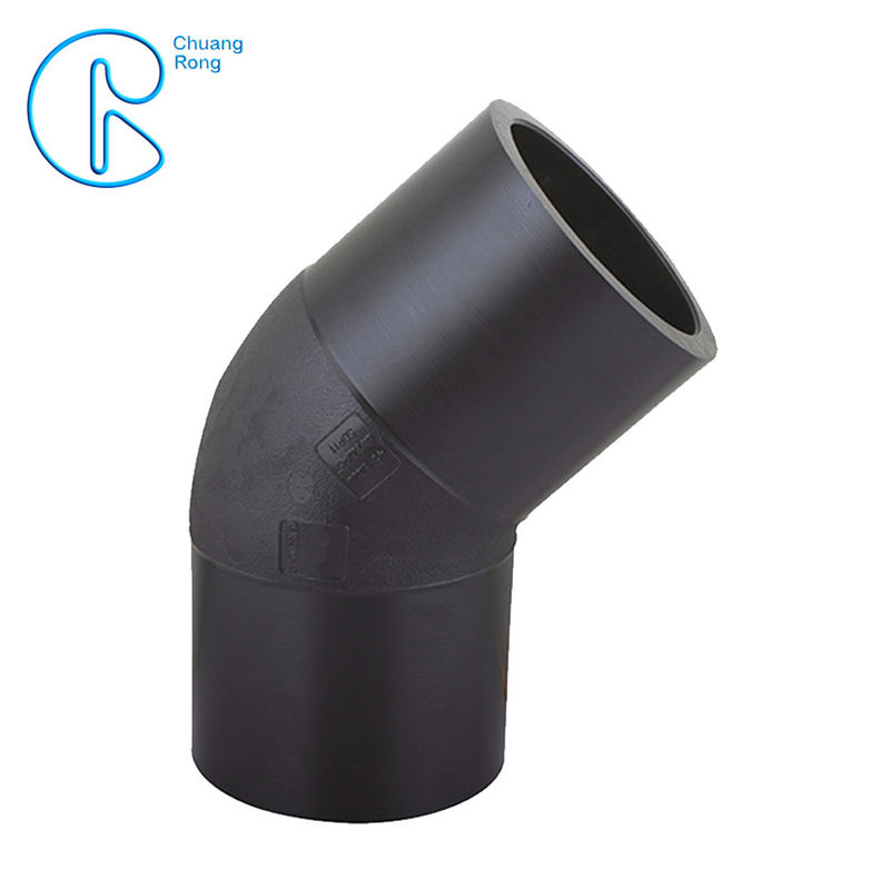 HDPE Irrigation Pipe Fittings , Butt Welding HDPE 45 Degree Elbow CE Approved supplier