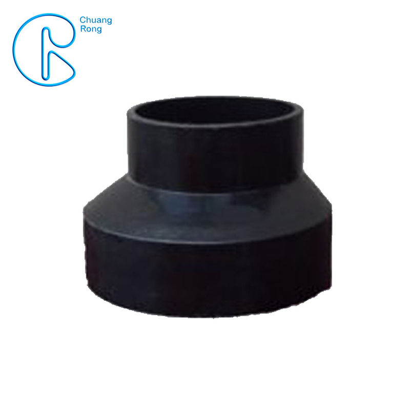 PN6 PE100 HDPE Siphon Fitting , HDPE Eccentric Reducer 63*50mm-315*160mm