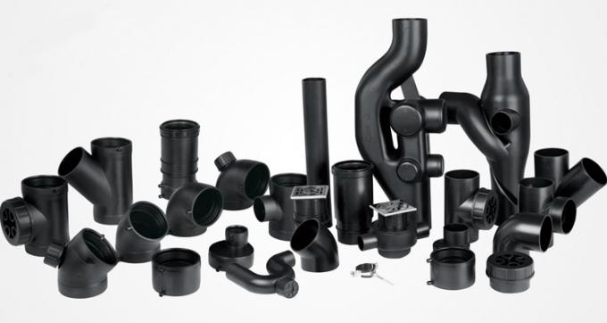 PN6 75mm 110mm 160mm 250mm HDPE Draining Fittings Siphon Short Tube for Locking