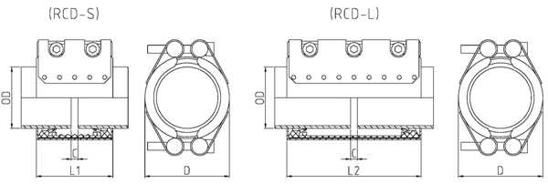 Double-Section Pipe Repair Coupling RCD Used On New PipeLines And Repairing Pipe leaks