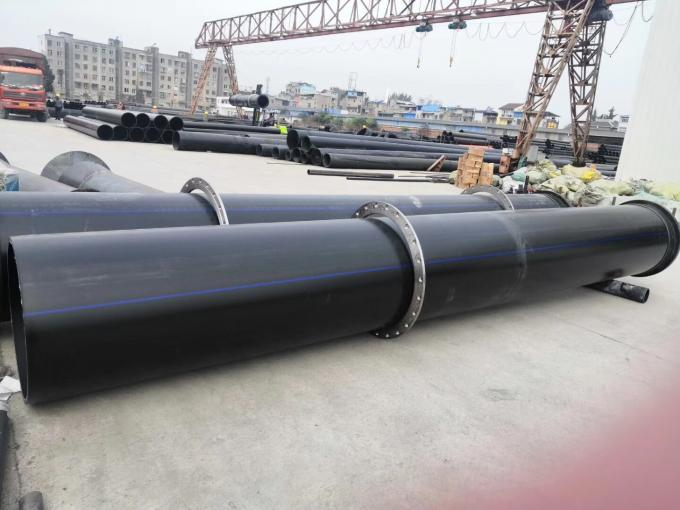 High Precision PE100 PN16 Hdpe Poly Pipe Customized Color For Mining OR Golden