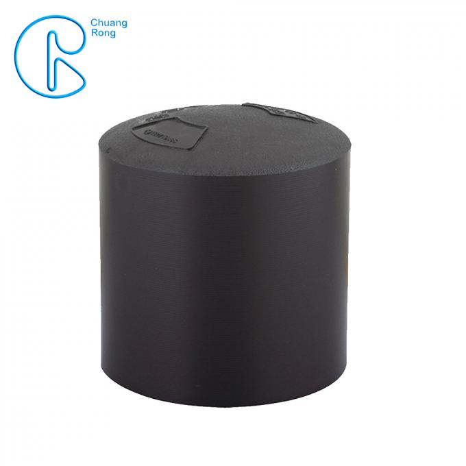Raw Ployethylene Materials Hdpe Fusion Fittings Full Dimension End Cap