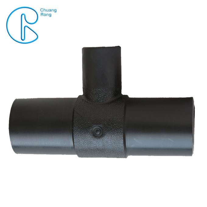 Quick Delivery Hdpe Fusion Fittings Pn16 Buttfusion Fittings Black Reducer Tee
