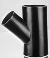 Buttfusion Connection HDPE Drainage Fittings Siphon Y Tee 45 Degree Tee PN6 PE100