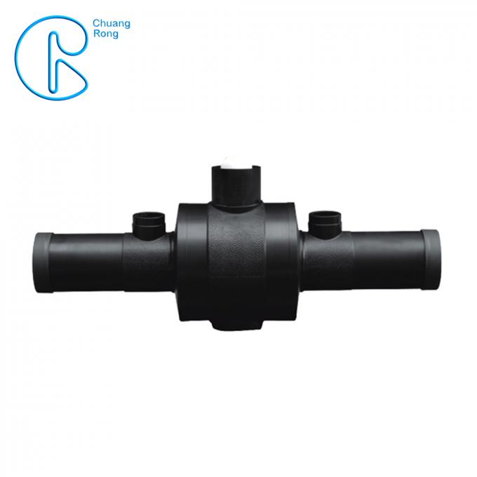 HDPE Electrofusion Standard HDPE Ball Valve for Gas Supply PN16 SDR11 PE100 CE Approved