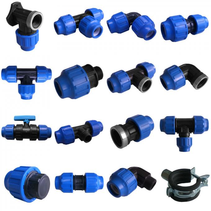 Plastic Compression Fitting Pipe Connectors Male Ball Valve In PN16