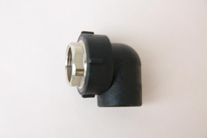 Durable HDPE Socket Fusion Fittings Female Elbow PE100 PN16 SDR11 For Mud Transportation