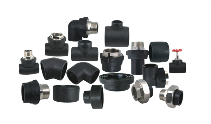 ISO Approved HDPE Socket Fusion Fittings , Hdpe Female Adaptor PE100 PN16 SDR11
