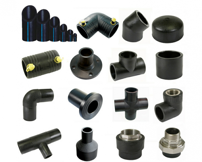 PE100 PN16 SDR11 Hdpe Equal Tee Socket Pipe Fitting 20-110mm For Sewage Treatment